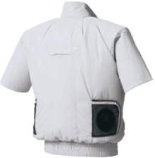 ファン付き作業服のインナーに使用するとさらに効果的